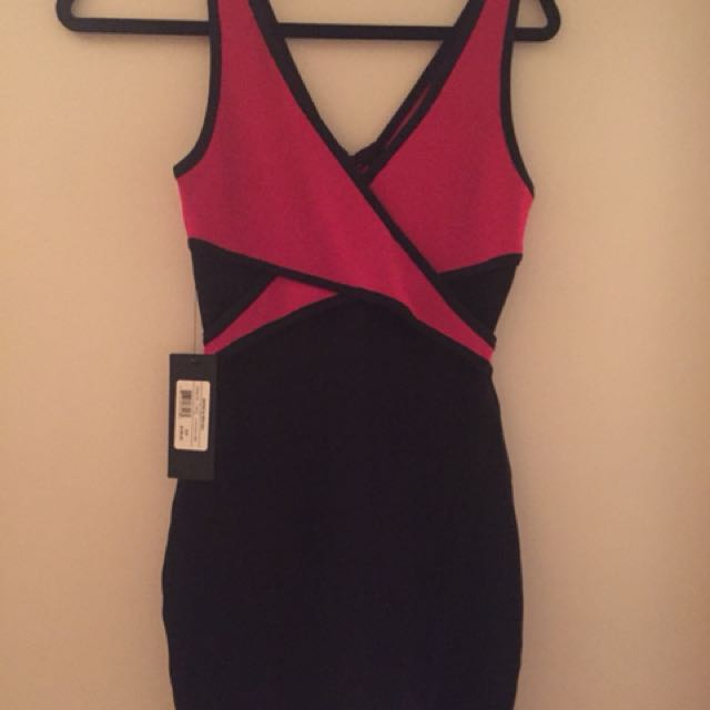 Marciano Pink and Black tight dress SM