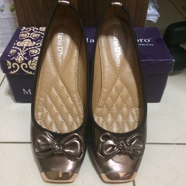 Mario D' Boro Bronze Doll Shoes