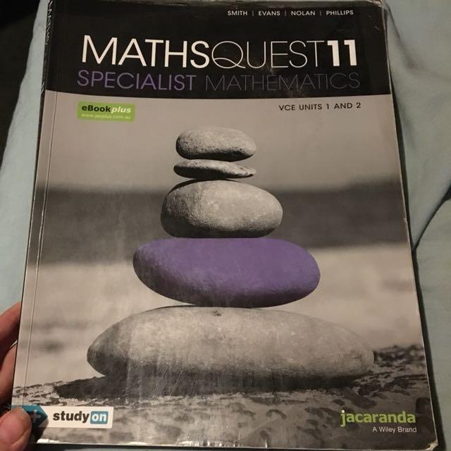 Maths Quest 11 Specialist Mathematics VCE units 1 & 2 Jacaranda