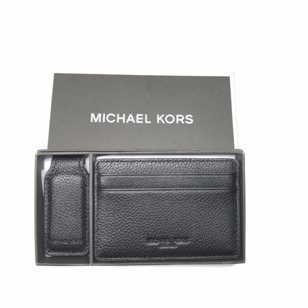 8bbc730c6fb9 Michael Kors Gifting Set Card Case With Money Clip In Smooth Leather ...