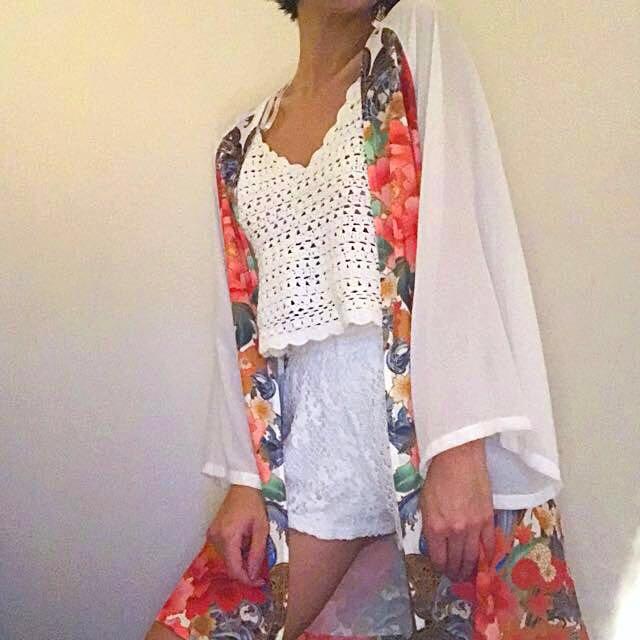 Mink Pink - Japanese print Kimono