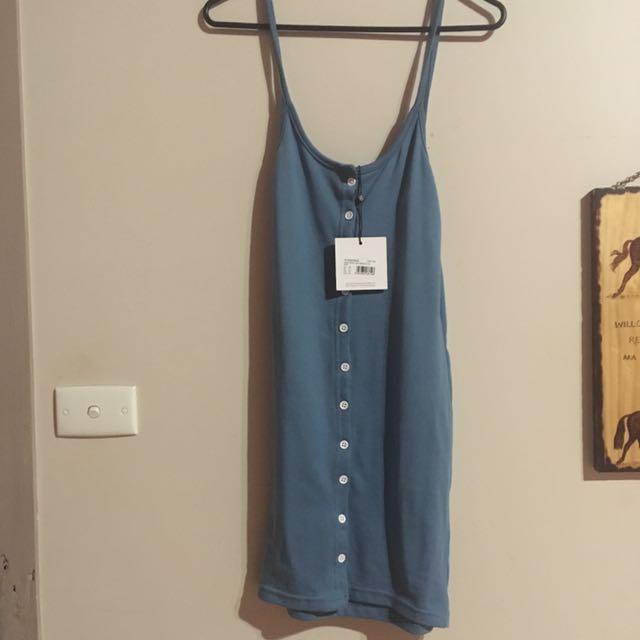 Misguided button down bodycon mini dress