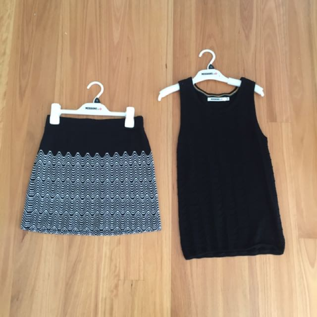 Missoni top and skirt