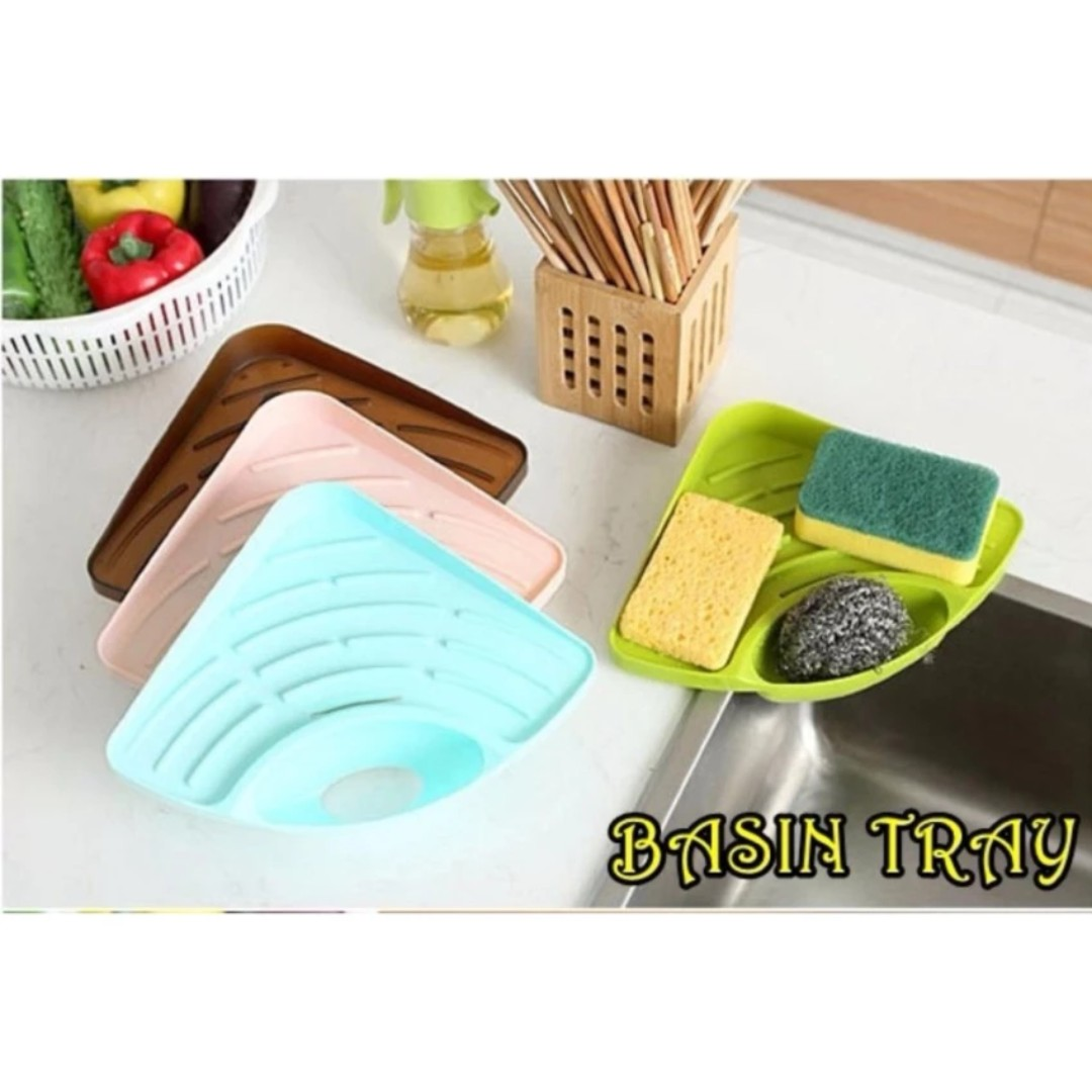 Multifunctional Kitchen Sink Triangle Racks Soap Stand Storage Organizer Box Holder
