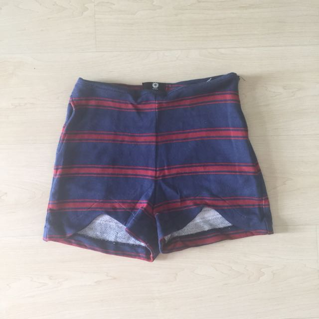 Navy Blue & Red Shorts