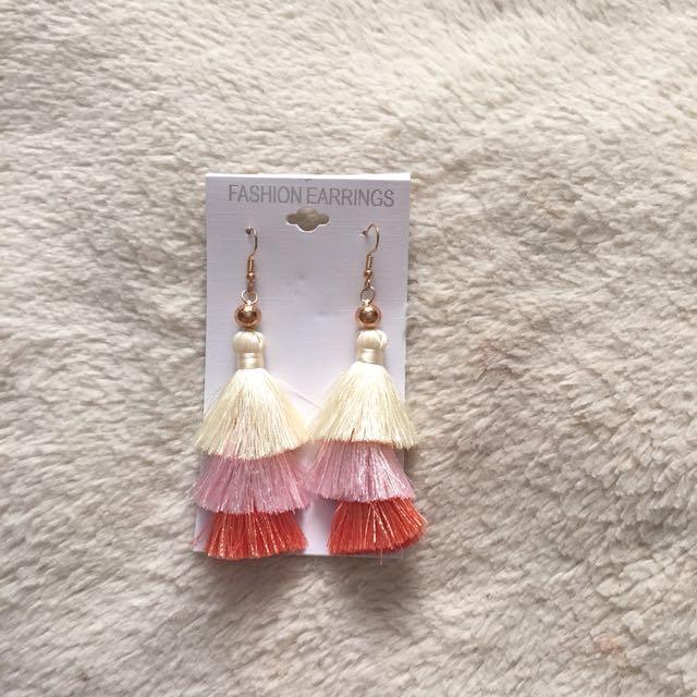 Ombré boho tassel earrings