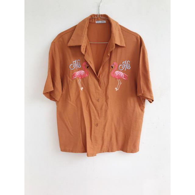 Orange Flamingo Shirt