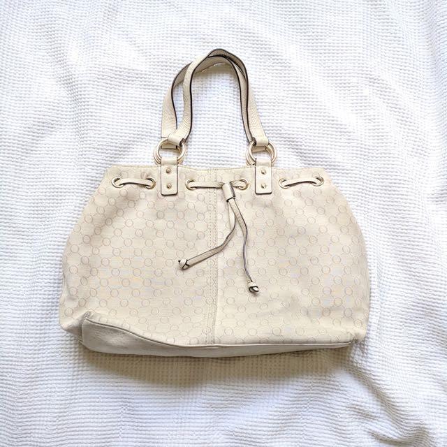 Oroton cream handbag
