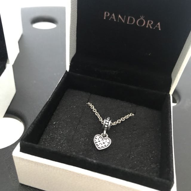 Pandora necklace with heart charm