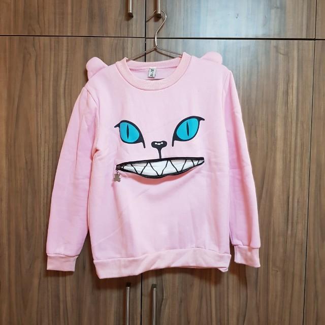 Pink cat sweater