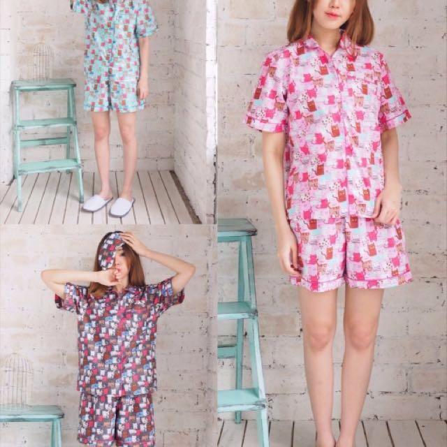Piyama pendek (Pajamas set+penutup mata)