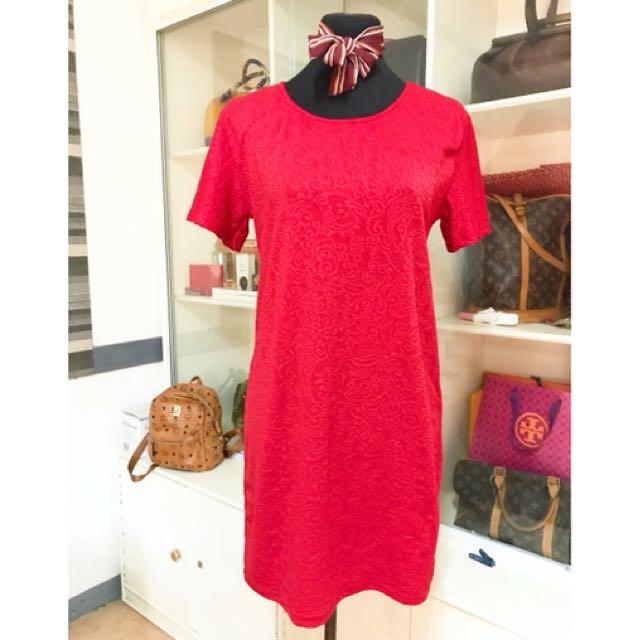 Plus size H&M red dress