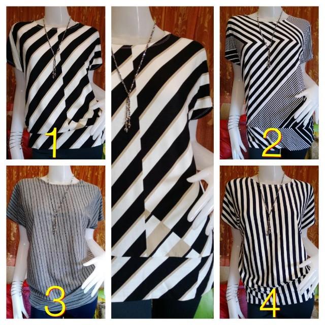Plus size stripe blouse