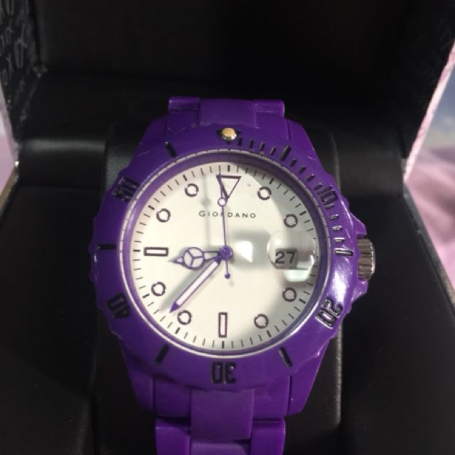 Preloved Giordano Watch - Violet with white face