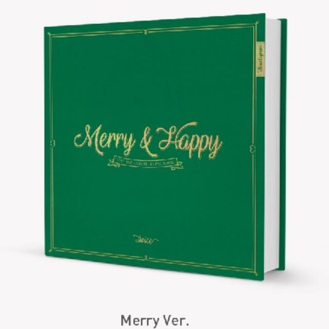 [Pre-Order] TWICE The 1st Album Repackage <Merry & Happy>  (MERRY VER./HAPPY VER.)
