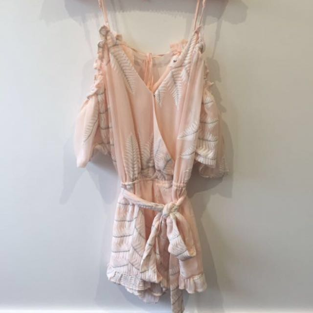 PRICE REDUCED! Seed Heritage pink print playsuit size 6