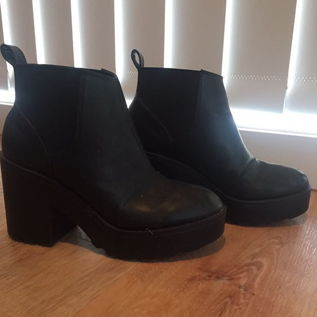 PULP Black boots Size 7