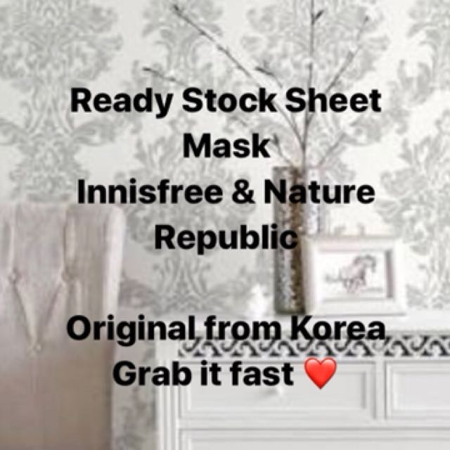 Ready Stock Sheet Mask Innisfree and Nature Republic