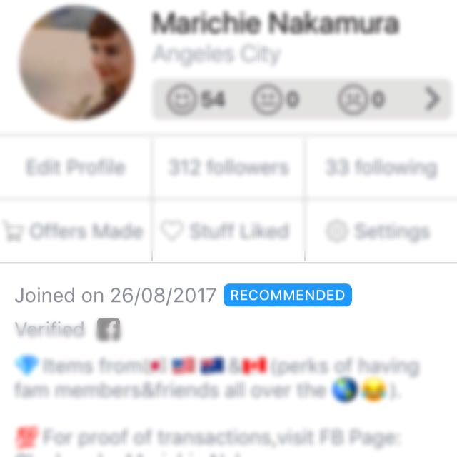 ❣️Recommended Carousell Member❣️
