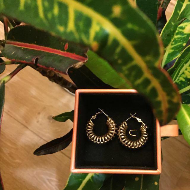 Reliquia Gold Spiral Hoop Earrings $45 Including Postage!