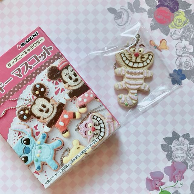 REMENT 迪士尼 愛麗絲 妙妙貓 餅乾 點心 盒玩 吊飾 食玩 絕版