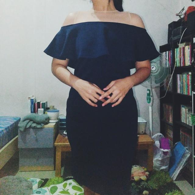Sabrina Fitting Dress Navy