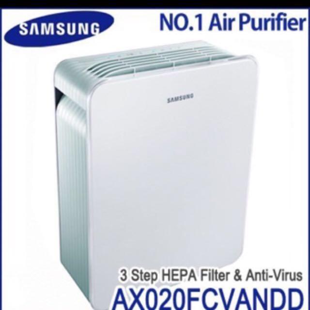 Samsung Air Purifier (Airpurifier, Anti Allergy, Deodorizer and Virus Doctor AX022) - UP $350 (Nego)