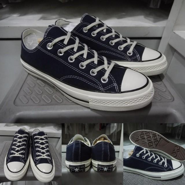 Sepatu Kets Sneakers Converse All Star Chuck Taylor 70s Seventies Low  Classics Canvas Dark Blue b0d6e92407