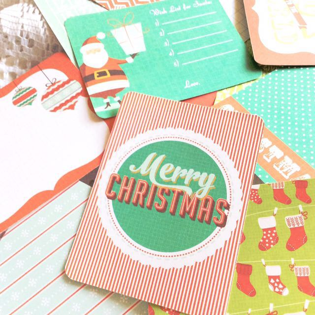 [Set Of 15] Christmas In The Air - Set Of 15 Double-sided Journaling Cards.