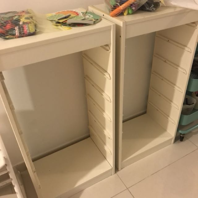 Shelves for IKEA tubs.