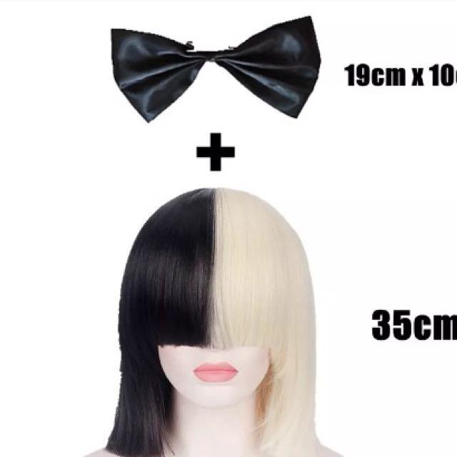 SIA Wig & Bow - with net & original bag