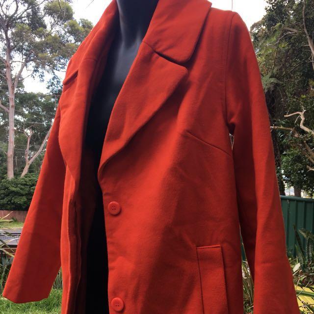 Size 8 target burnt orange trench coat