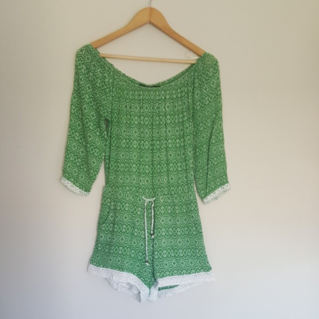 Sportsgirl as new off shoulder playsuit size xs