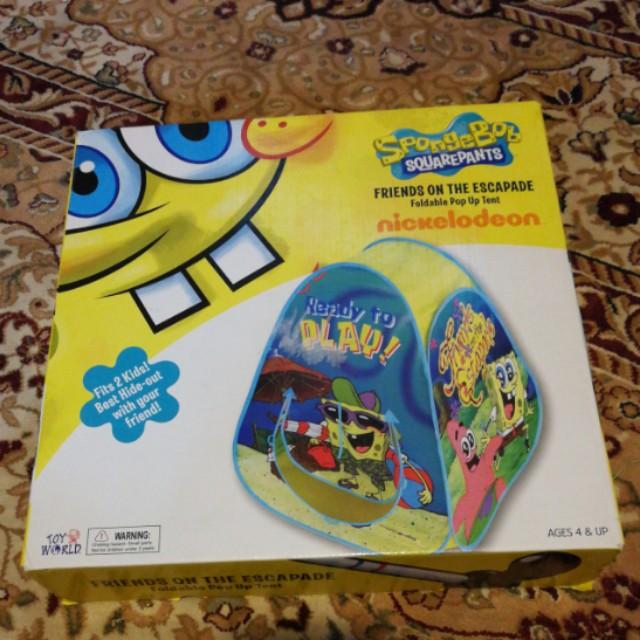 Spongebob squarepants foldable tent