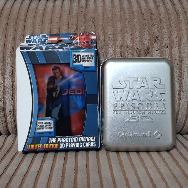 Star Wars The Phantom Menace 3D Playing Cards Hologram
