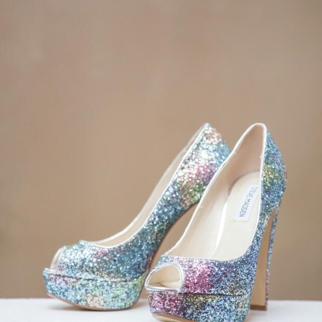 132addeabe4 Steve Madden Colourful Glitter Heels