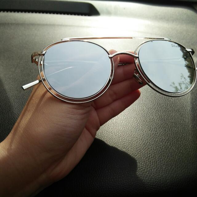 Sunglasses / Shades Premium Quality Dior Design Round In Silver 😘