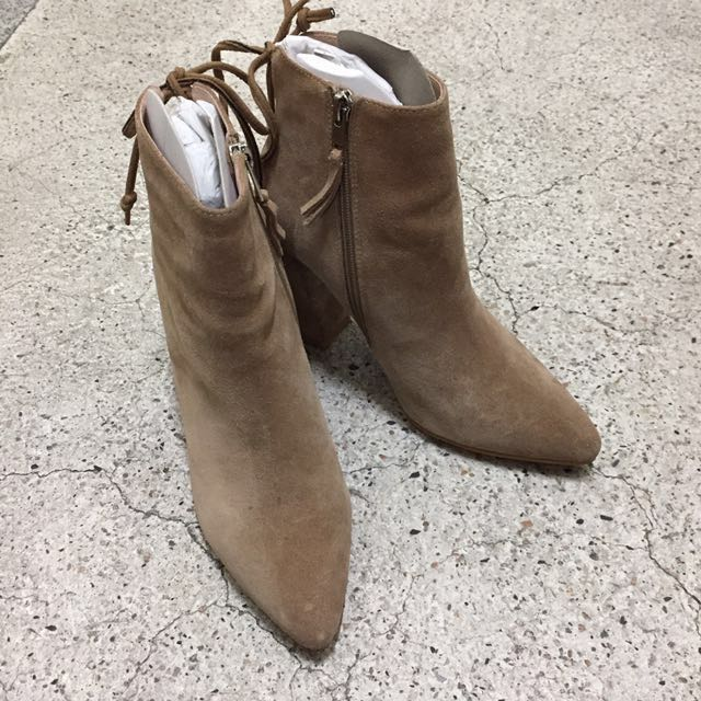 *免運*SW同款尖頭踝靴 咖39