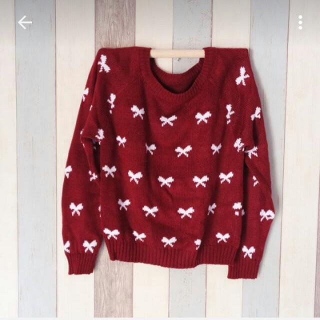 sweater rajut ribbon