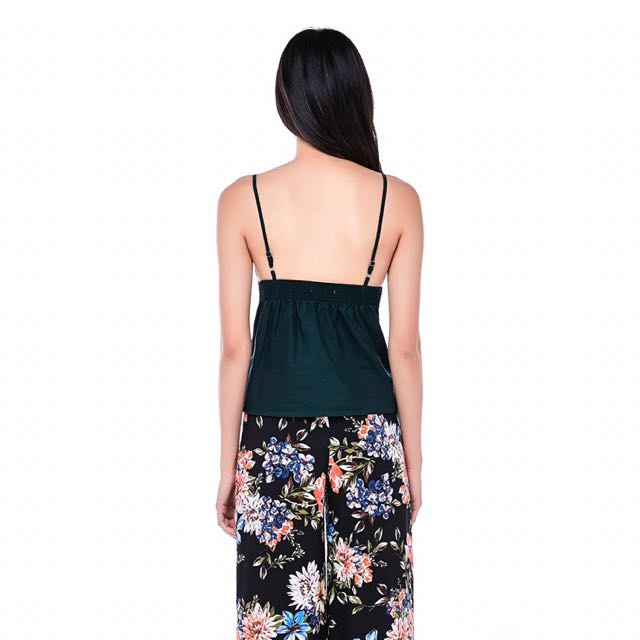 bc01379be40303 TEM MEARA FRONT-TIE CROP TOP, Women's Fashion, Clothes, Tops on Carousell