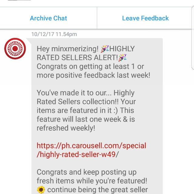 Thank you, Carousell! 💕