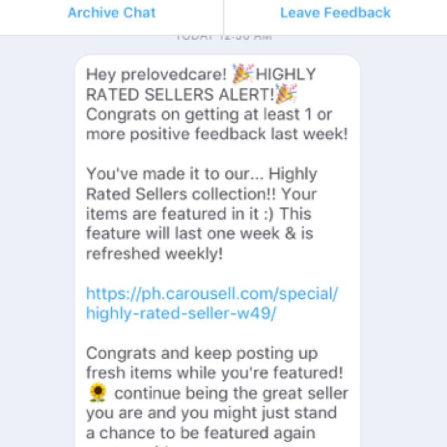Thanks carousell for trusting