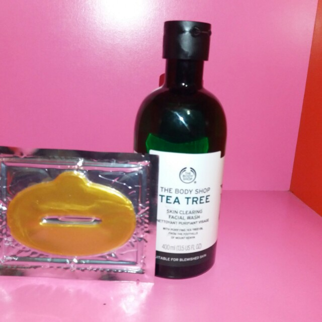 The body shop tea tree skin clearing facial wash 400ml (FREE masker)
