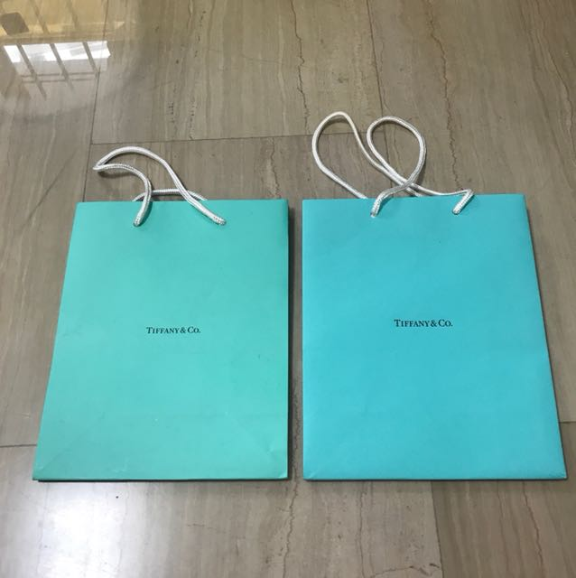 5fdd7ab625 Tiffany and Co. paper bags, Luxury, Accessories on Carousell