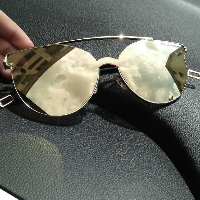 Tilda Swinton x Gentle Monster Sunglasses /Shades Fashion Eyewear Premium Quality In Gold 💞