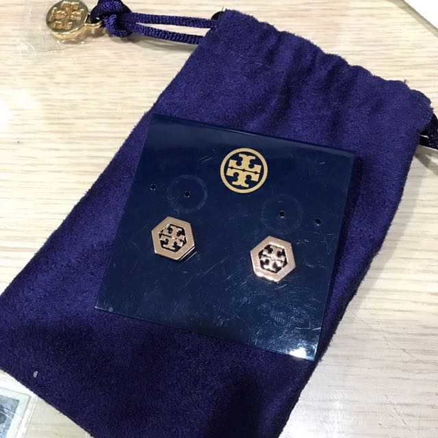 Tory Burch 六角logo耳環