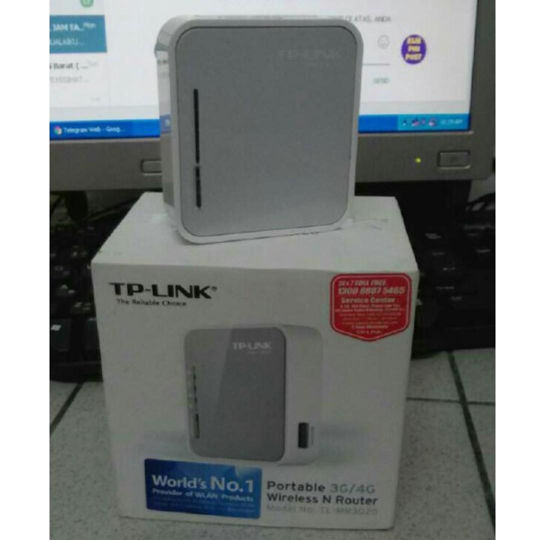Tp Link Portable 3g 4g Wireless N Router Tl Mr3020 Electronics Aksesori Komputer Di Carousell
