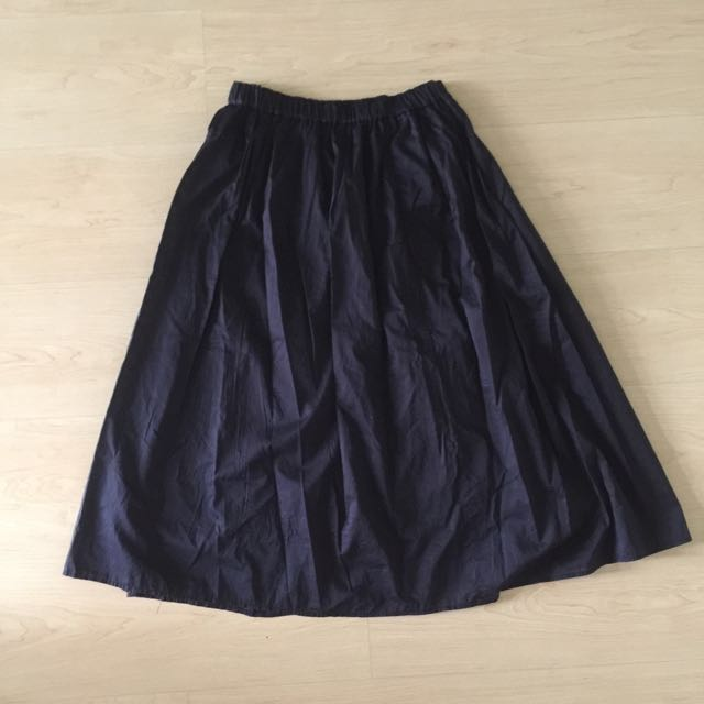 Uniqlo Dark Blue Midi Skirt
