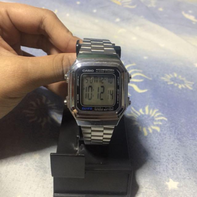 Used Casio A178W Illuminator Silver Watch