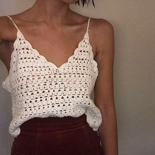 White Lace top - Size 8